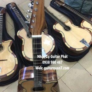 Tiệm bán đàn guitar thùng phím lõm gỗ điệp tại quận 7 nhà bè tphcm