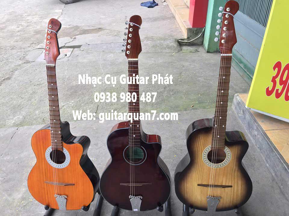 Bán đàn guitar cổ thùng phím lõm giá rẻ . Cơ sở sản xuất đờn guitar cổ thùng phím lõm